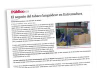 El negocio del tabaco languidece en Extremadura M