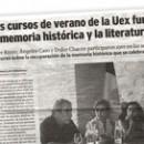 Los cursos de verano de la Uex funden la memoria histórica y la literatura M