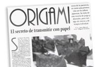Origami. El secreto de transmitir con papel M