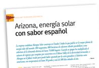 Arizona, energía solar con sabor español M