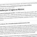 Batallas por el agua en México M