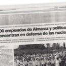 600 empleados de Almaraz y políticos se concentran en defensa de las nucleares M