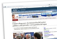 Cañete aboga por la interacción del sector público y privado en la gestión del agua M