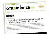 Derrocados y golpistas quieren evitar las sanciones de Mercosur a Paraguay M