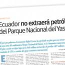 Ecuador no extraerá petróleo del Parque Nacional del Yasuní M