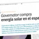 Governator compra energía solar en el espacio M