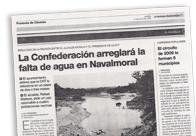 La Confederación arreglará la falta de agua en Navalmoral M