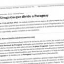 La Uruguaya que divide a Paraguay M