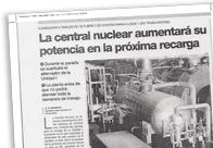 La central nuclear aumentará su potencia en la próxima recarga M