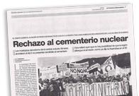Rechazo al cementerio nuclear M
