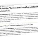 Entrevista Alberto Acosta