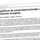 Las políticas de austeridad encienden a los feminismos europeos