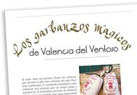 Los garbanzos mágicos de Valencia del Ventoso