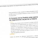 El Congreso de los Pueblos exige apertura a las negociaciones de paz de La Habana