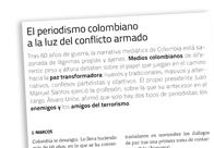 El periodismo colombiano a la luz del conflicto armado