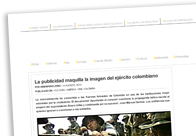 La publicidad maquilla la imagen del ejército colombiano