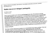 Nadie cree en el 'milagro' portugués