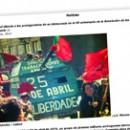 Portugal silencia a los protagonistas de su democracia en el 40 aniversario de la Revolución de los claveles