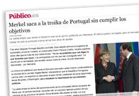 Merkel saca a la troika de Portugal sin cumplir los objetivos