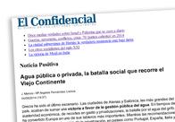 Agua pública o privada, la batalla social que recorre el Viejo Continente
