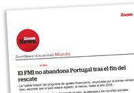 El FMI no abandona Portugal
