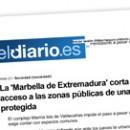 La 'Marbella de Extremadura' corta el acceso a las zonas públicas de una isla protegida