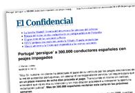 Portugal 'persigue' a 300000 conductores españoles con peajes impagados