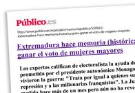 Extremadura hace memoria (histórica) para ganar el voto de mujeres mayores