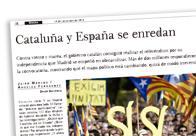 Cataluña y España se enredan