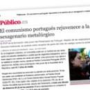 El comunismo portugués rejuvenece a la sombra de un sexagenario metalúrgico