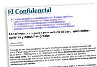 La fórmula portuguesa para reducir el paro Quinientos-euristas y dando las gracias