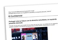 Portugal vota su futuro con la derecha camuflada y la izquierda posando desnuda