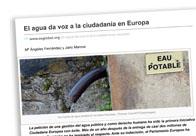 El agua da voz a la ciudadanía en Europa