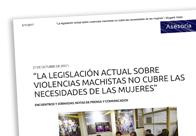 Propuestas feministas legislativas para vivir una vida libre de violencias machistas