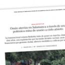 Omán aterriza en Salamanca a través de una polémica mina de uranio a cielo abierto