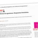 Informe de agresiones Respuestas feministas