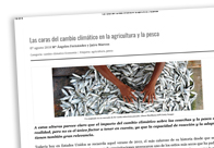 Las caras del cambio climático en la agricultura y la pesca
