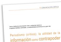 Periodismo (crítico)_La utilidad de la información como contrapoder