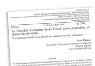 La Totalidad dominante desde Dussel como generadora de alienación identitaria