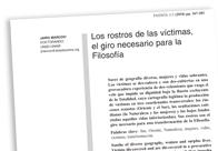 Los rostros de las víctimas, el giro necesario para la Filosofía