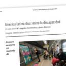 América Latina discrimina la discapacidad