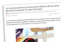 Entrevista Marixela Ramos