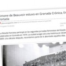 Simone de Beauvoir estuvo en Granada