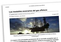 Los inestables escenarios del gas offshore
