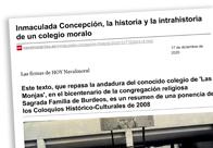 Inmaculada Concepción, la historia y la intrahistoria de un colegio moralo