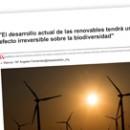El desarrollo actual de las renovables tendrá un efecto irreversible sobre la biodiversidad