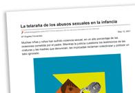 La telaraña de los abusos sexuales en la infancia