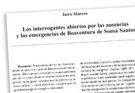 Los interrogantes abiertos por Boaventura de Sousa Santos